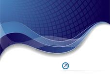 Vector blauw collectief malplaatje Royalty-vrije Stock Afbeelding