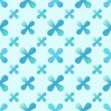 Vector blauw creatief naadloos patroon vector illustratie