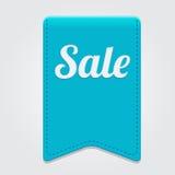 Vector blauw groot verkooplint op grijze achtergrond. Royalty-vrije Stock Foto's