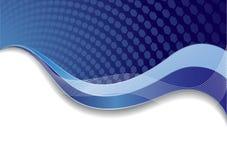 Vector blauw malplaatje met textuur Royalty-vrije Stock Fotografie