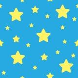 Vector blauw naadloos sterrenpatroon Sterachtergrond op willekeurige elementen voor hoog definitieconcept dat wordt gebaseerd royalty-vrije illustratie