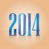 Vector blauw nummer 2014 Royalty-vrije Stock Afbeeldingen
