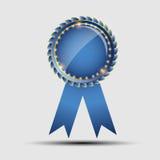 Vector blauw teken, etiketmalplaatje Royalty-vrije Stock Afbeelding