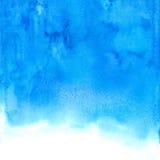 Vector blauwe abstracte hand getrokken waterverfachtergrond Royalty-vrije Stock Foto