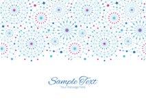 Vector Blauwe Abstracte Lijn Art Circles Horizontal Stock Afbeelding