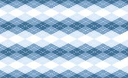 Vector Blauwe Achtergrond Argyle Stock Afbeelding