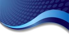 Vector blauwe achtergrond met cirkel Stock Fotografie