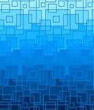 Vector blauwe achtergrond van vierkante lijnen Royalty-vrije Stock Foto