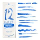 Vector blauwe borstel Royalty-vrije Stock Afbeeldingen