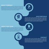 Vector blauwe contactachtergrond voor bedrijven Stock Foto
