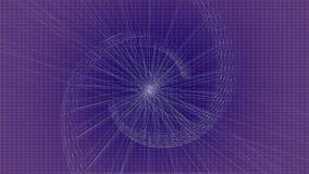 Vector blauwe de lijn Blauwe achtergrond van DNA vector illustratie
