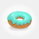 Vector Blauwe Doughnut Stock Fotografie