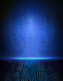 Vector blauwe elektronische achtergrond. royalty-vrije illustratie
