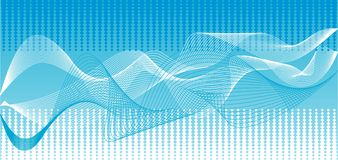 Vector blauwe golvenachtergrond Stock Fotografie