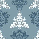 Vector blauwe koninklijke de lente naadloze achtergrond Stock Illustratie