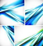 Vector blauwe lijnachtergronden Stock Foto's