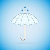 Vector blauwe paraplu Stock Foto