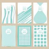 Vector blauwe reeks van Uitstekende patroonbanner als achtergrond Royalty-vrije Stock Afbeeldingen