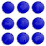Vector blauwe spheric Webknopen Royalty-vrije Stock Fotografie