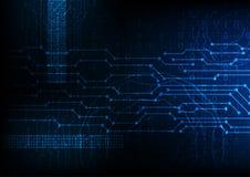 Vector blauwe toekomstige abstracte technologieachtergrond, digitale gegevensversleuteling royalty-vrije illustratie