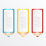 Vector Bleistiftschablone mit Platz für Ihren Inhalt Lizenzfreie Abbildung