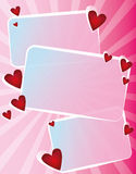Vector blocks with hearts Royalty Free Stock Photo