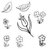 Vector bloem Royalty-vrije Stock Foto