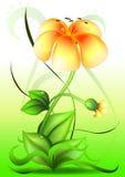 Vector bloem Royalty-vrije Stock Afbeeldingen