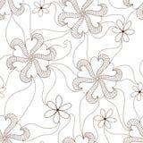 Vector bloem naadloos patroon Royalty-vrije Stock Afbeeldingen