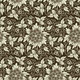 Vector bloem naadloos patroon royalty-vrije illustratie