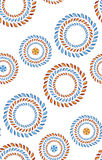 Vector bloem naadloos patroon Stock Afbeelding