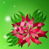 Vector bloemen abstracte achtergrond met bloem en groen blad Vector Illustratie