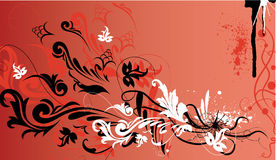 Vector bloemen decoratief frame Royalty-vrije Stock Fotografie