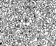 Vector bloemen naadloos patroon Stock Foto's