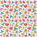 Vector bloemen naadloos patroon Royalty-vrije Stock Fotografie