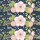 Vector bloemen naadloos patroon royalty-vrije illustratie