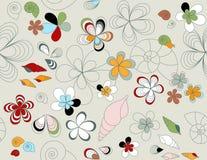 Vector bloemen naadloos patroon Stock Afbeeldingen