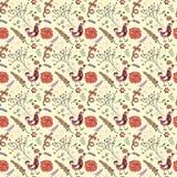 Room met roze patroon Vector Illustratie