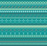 Vector Bloemen naadloos patroon Horizontale achtergrond voor textiel, document of andere decoratie In kleurenpalet Royalty-vrije Stock Fotografie