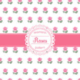 Vector bloemen naadloos patroon met rozen Royalty-vrije Stock Foto