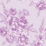 Vector bloemen naadloos patroon met tulpen, gladiolen en dahlia's Stock Afbeelding