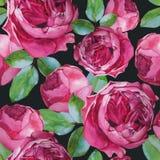 Vector bloemen naadloos patroon met waterverfrozen Stock Foto's