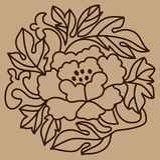 Vector bloemenachtergrond Stock Foto