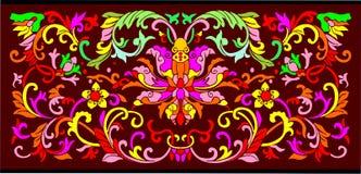 Vector bloemenachtergrond Stock Foto's