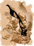 Vector bloemenachtergrond Stock Afbeelding