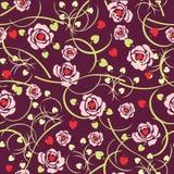 Vector bloemenachtergrond Royalty-vrije Stock Foto