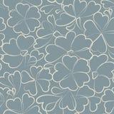Vector bloemenachtergrond. Naadloos patroon Stock Afbeeldingen