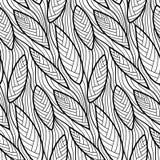 Vector bloemenachtergrond van getrokken lijnen Stock Foto's