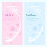 Vector bloemenbanner, kaart, etiket, achtergrond met licht Mooie bloemenvlieger Dekking van licht en kleuren Stock Afbeelding
