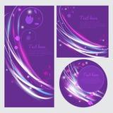Vector bloemenbanner met licht Mooie bloemenvlieger Dekking van licht en kleuren Een kleurrijke uitnodiging Mooie groetkaart Stock Foto's